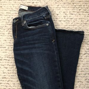 Abercrombie and Fitch dark wash stretch jeans